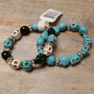 Turquoise Skull Bracelets